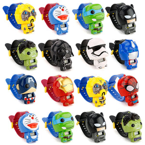 Children Watch Batman Captain America kids watches Hulkbuster Iron Man Spiderman Toy for Children