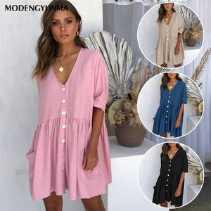 Summer short sleeve Casual Loose Dress Maternity