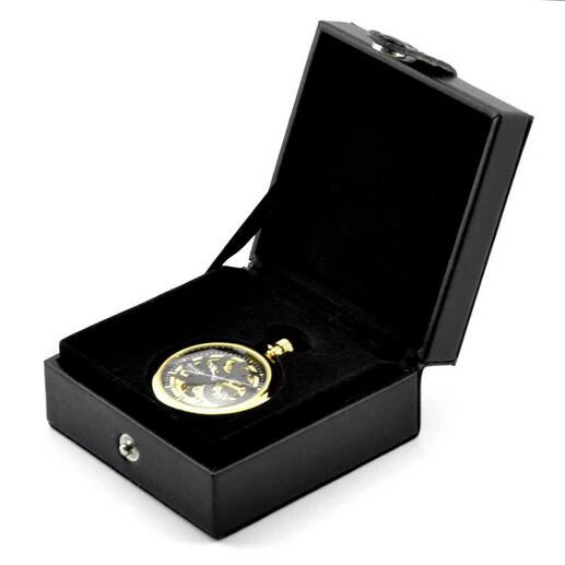 (Men's Gift) Luxury Copper Material Mechanical Pocket Fob Watch Chain Watches