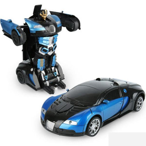【40% off】Transformers 2.4G Induction Deformation RC Cars Transformation Robot Car Toys for Children Gifts