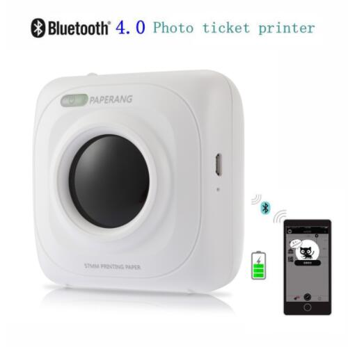 Portable Bluetooth 4.0 Printer Photo Thermal Printer Phone Wireless Connection