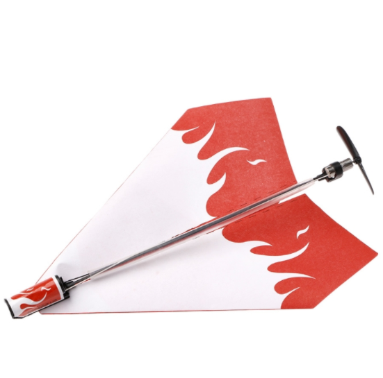 Electric Motor Paper Airplane Model DIY Power Up Flying Plane Kids Toys 3 Sets