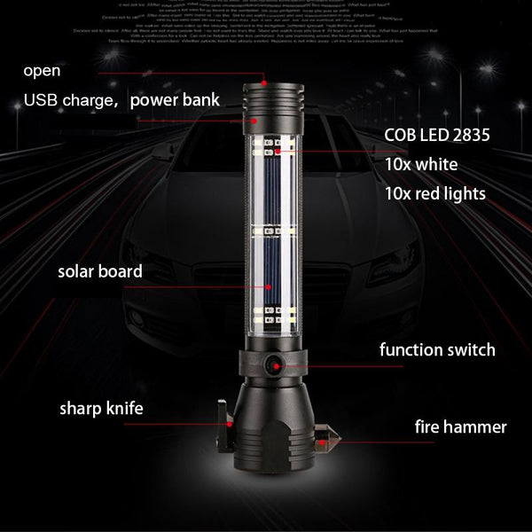 9 in 1 Life Saver Flashlight Outdoor Survival Equipments