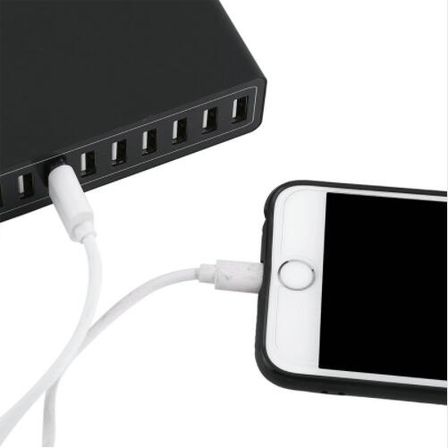 10 Port 50W USB Charging Station Hub AC Power Fast Charge For Smartphone Tablet