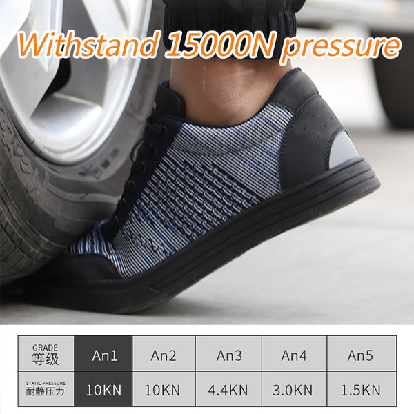 Men's Steel Toe Work Safety Shoes Casual Breathable Outdoor Sneakers