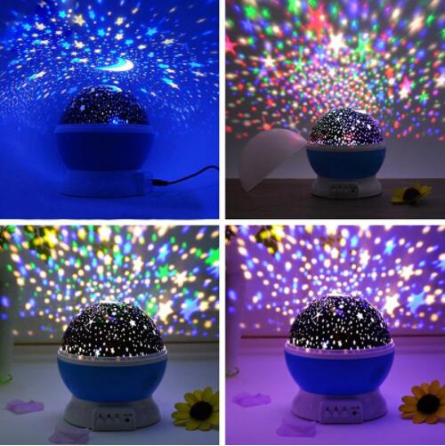 (Hot sale) LED  Night Sky Auto Flash Lights Automatic Rotating Fantasy Luminous Projection Light Star Projector Creative Romantic Birthday Gift