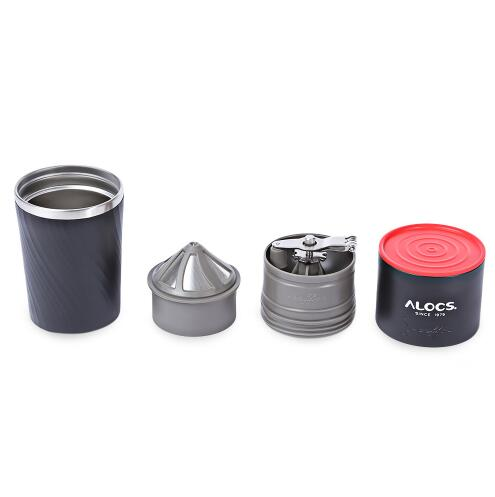 Portable Coffee Maker Stainless Steel 4 in 1 Outdoor Camping Coffee Mug Grinding Machine