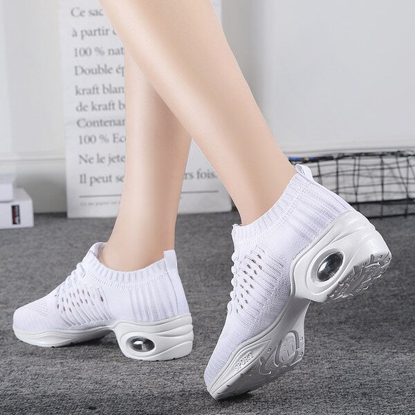 Women's Running Shoes Fashion Colorblock Breathable Comfy Sports Shoes