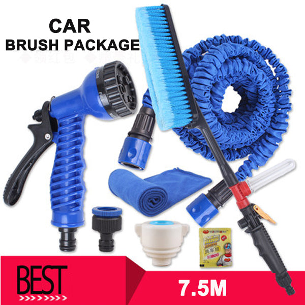 High-pressure Car Wash Water Gun Home Set 3 Times Telescopic Water Pipe  Garden Watering Hose and Car Wash Hose