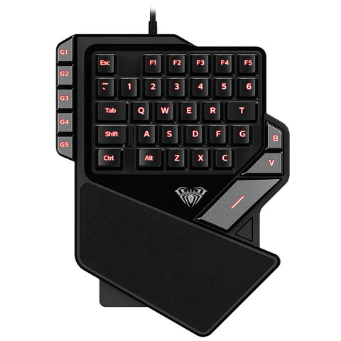 USB Gaming Keypad Mini LED Backlit Ergonomic Single Hand Keyboard