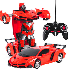 1:18 Electric Remote Control Car One Button Remote Control Deformable Vehicle Robot simulation model car remote control toy