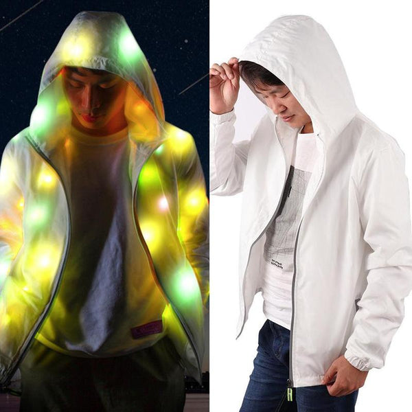 1 PCS Creative Halloween Waterproof Colorful LED Luminous Costume Clothing For Dancing LED Lighting Coat Clothing For Event Party