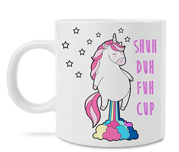 Unicorn Coffee Cup Color Change Temperature Cup