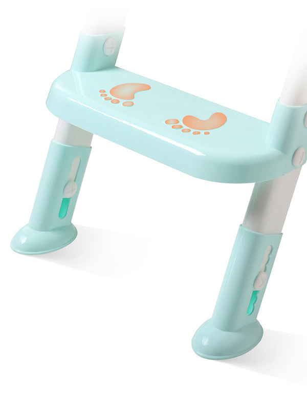 Folding Baby Potty Infant Kids Toilet Training Seat with Adjustable Ladder