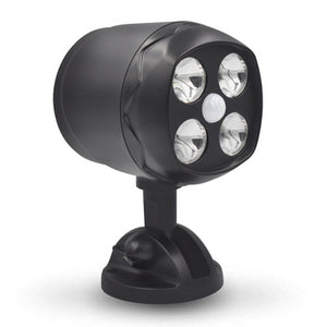 4LED Super Bright Concentrated Owl Induction Wall Lamp With Motion Sensor Weatherproof Battery Power Supply Black