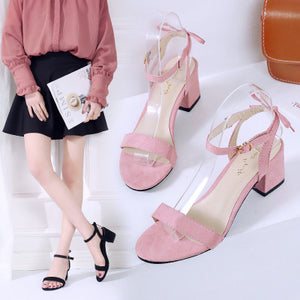 Rough Sandals Women Small Fresh Wild Women Shoes Summer Sandals High Heel