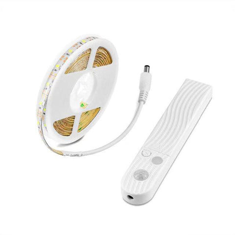 Smart Turn ON OFF PIR Motion Sensor & USB Port LED Strip Light Flexiable adhesive lamp tape For Closet Stairs