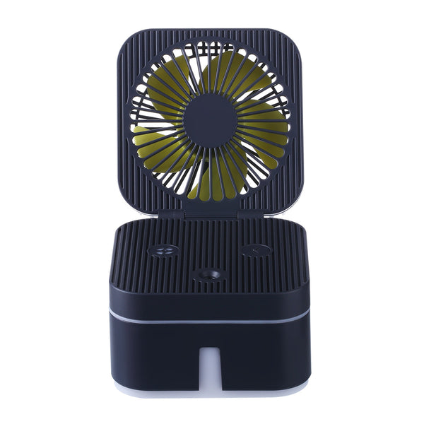 Moisturizing Desktop Cube Humidifier Nightlight Fan
