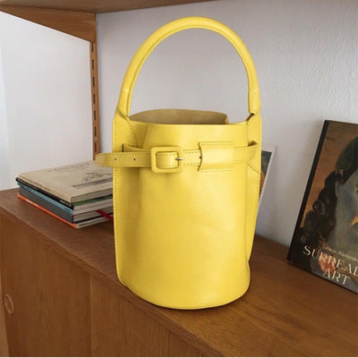 2019 summer new candy color handmade bucket bag shoulder diagonal handbag