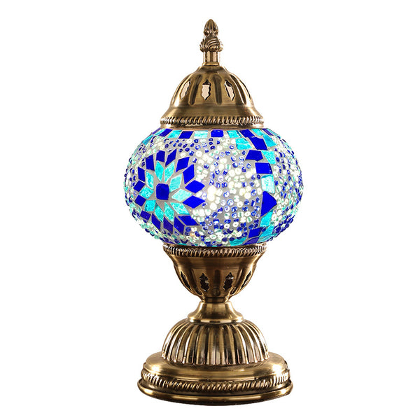Turkish Mosaic Glass Table Lamp Retro Style Home Decoration Handmade Bed Lamp