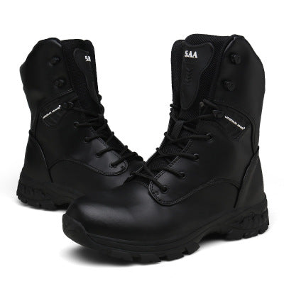 Outdoor Climbing Off Road Men's Boots Wear Resistant Military Boots Men's Special Hiking Climbing Tactical Boots Wateproof Boots Leather Nylon Desert Army Boots