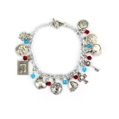 European and American Fashion Wind Bracelet Storybook Bracelet Simple High-grade Alloy Bracelet