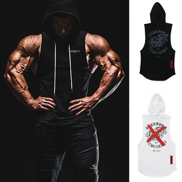 Men Gyms Fitness sleeveless shirt  Cotton Workout Sports Vest