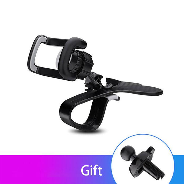 360 Degree Rotation Universal Car Phone Holder Mobile Phone Stand Bracket Clip Adjustable