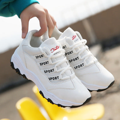 New Korean Breathable Sports Shoes Girl Casual White Shoes Women Running Shoes