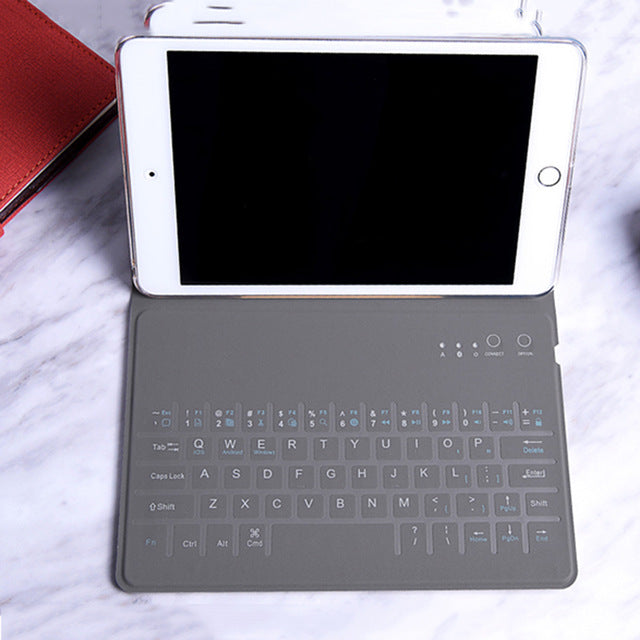 "9.7-9.9"" inch Case Wireless Bluetooth Keyboard for ipad Pro 9.7-9.9 inch Folding Cases Protective Holster Ultra Thin for Tablet IOS"