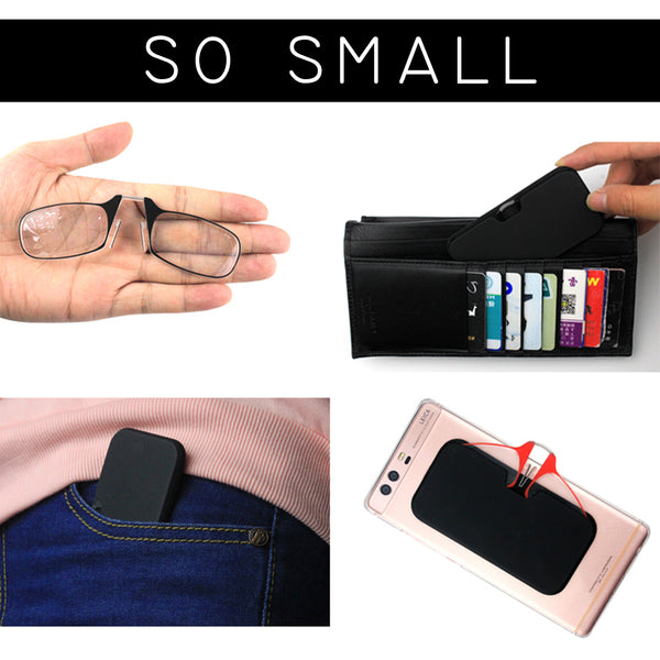 Clip Nose Reading Glasses Mini Folding Reading Glasses Men and Women's Easy Carry With Key Chain