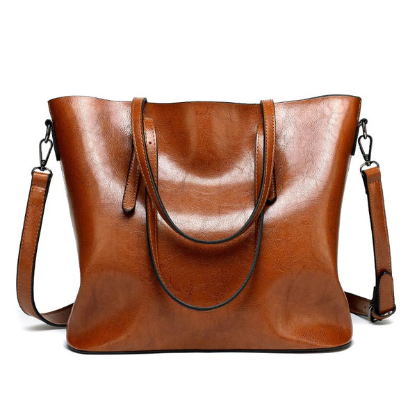 Brand Women Leather Handbags Lady Large Tote Bag