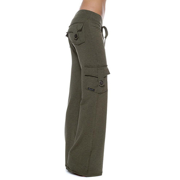 Stretchy Soft Eco-friendly Bamboo Pocket Yoga Pants