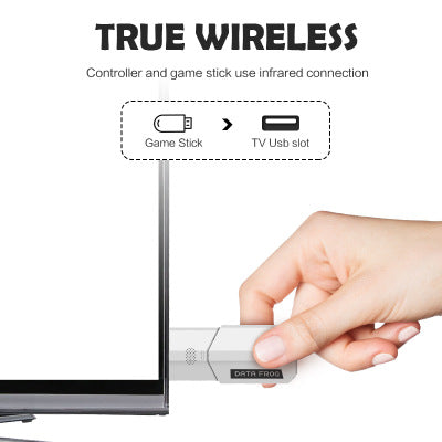Retro Video Game Console Wireless USB Console Support TV Out Built in 620 Classic Video Games Dual Handheld Gamepads