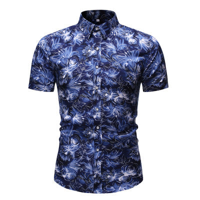 summer fashion men clothes set Flower tshirt men slim fit casual t shirt men cotton short sleeve T-shirt sportwaer tracksuit