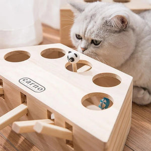 Carno™Wooden Cat Hit Gophers Toys