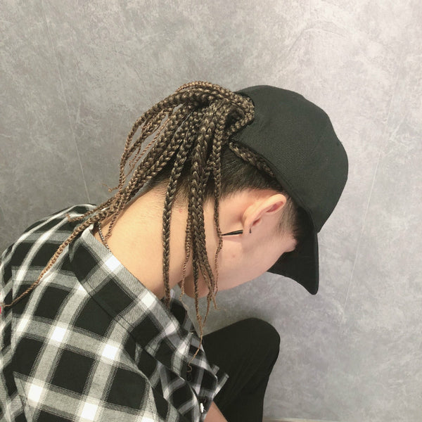Dirty wig hat fashion summer hip hop wig male headband