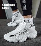 Cushioning Men High-top sneakers basketball shoes Running Jogging