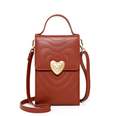 New Diagonal Cross-bag Female Fashion Multi-layer Female Shoulder Bag
