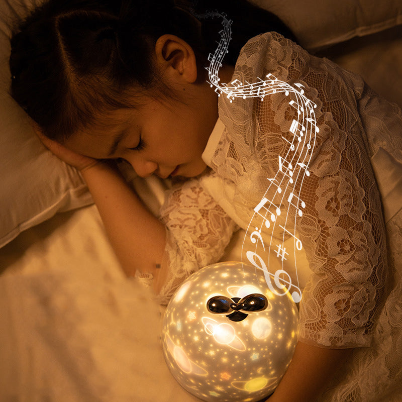 Rotating Night Light Projector Spin Star Master  LED USB Lamp Projection