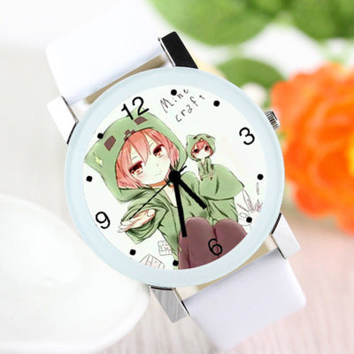 Minecraft Anime  Watch Students  Cool Paragraph Watch Girl and Boy Quartz Watch