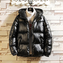 New winter cotton coat Korean trend coat couple suit silver golden down jacket