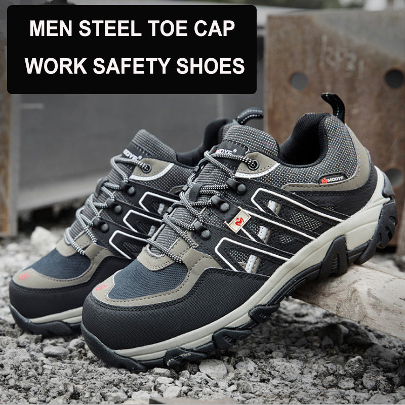 aa66a0be MODYF High Visibility Reflective Mens Safety Shoes Steel Toe Cap Work Shoes  Construction Protective Footwear Casual Sneakers