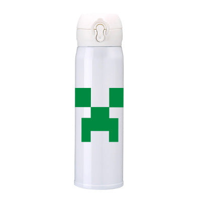 Minecraft Stainless Steel Anime Minecraft Cup Thermos Cup Student Cup