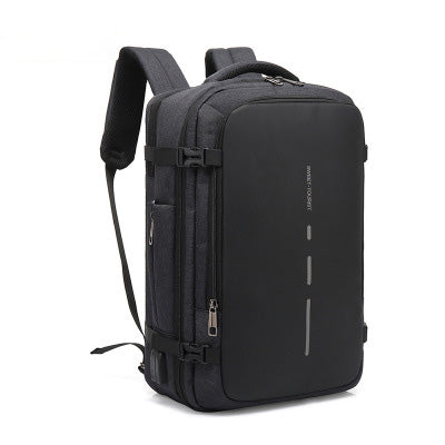 【Christmas Discount】Multifunctional Shoulder Bag New Fashion Large Capacity Travel Box Men's Oxford Brake Chain Business Backpack Smart Charging Bag