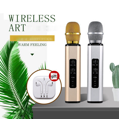 New K6 Mobile Phone k Song Treasure Wireless Microphone  Bluetooth Microphone Live Sound Card Home
