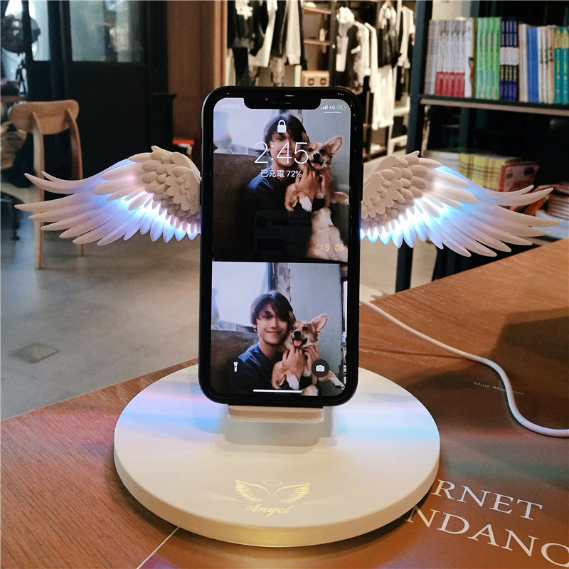 10W New Angel Wings Mobile Wireless Charger for Android Apple 10W Fast Charge