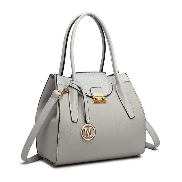 Miss Lulu - Expandable Winged Shoulder Bag Grey AA0029