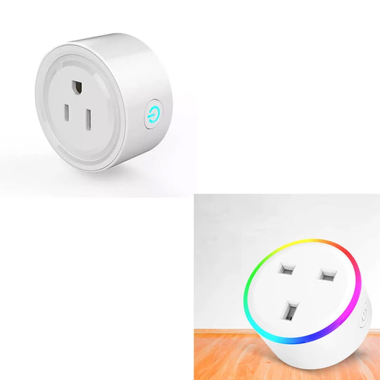 【2pcs】UK&US Alexa Smart Wifi Socket Phone Timing Switch Scene Light Socket