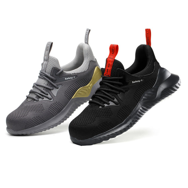 2020 New Breathable Mesh  Anti-Smashing Puncture-Proof Work Safety Sneakers